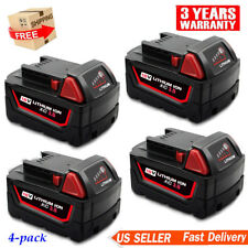 4X For Milwaukee 48-11-1852 M18 M18B LITHIUM ION Extended Capacity Battery Pack