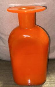 Mid Century Nuutajarva Kaj Franck Vase Orange Signed Piece