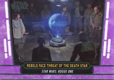 Star Wars 40th Anniversary Purple Base Card #60 Rebels Face Threat of the Death