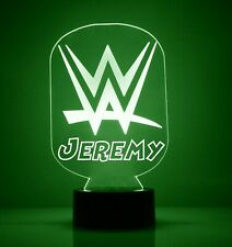 WWE Wrestling Personalized FREE WWF LED Night Light Lamp with Remote Control