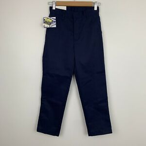 Authentic Galaxy School Uniform Navy Blue Pants Double Knee Size 8 Boys New Tags