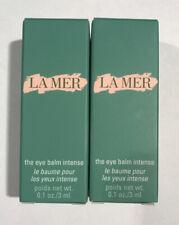 New Lot Of 2-La Mer The Eye Balm Intense .1oz / 3ml Total 6ml 100% Authentic