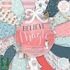 "6"" x 6"" 48 Sheet Full Pad BELIEVE IN MAGIC Christmas Card Making Scrapbook Paper"