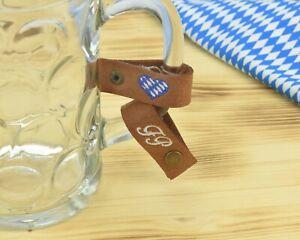 Maßkrugband 'Initialen' bestickt für den Henkel -Bierkrugband personalisiert