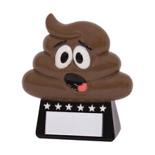 Oh Poop! Fun Achievement Trophies Loser Awards 90mm high FREE Engraving
