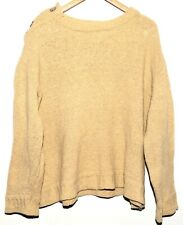 GREAT DIRK BIKKENBERG HOMMES CREAM WOOL JUMPER WITH METAL STUDS SIZE LARGE