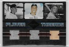 2004 04 LEAF LIMITED ROGER MARIS PLAYER THREADS TRIPLE JERSEY & GU BAT 22/25