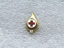 RED CROSS BLOOD DONOR 3 GALLON PIN