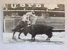 """RPPC """"Banderillas a Caballo Mexico Bullfight"""" c.1955 Vintage Real Photo Postcard"""