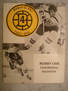 BOBBY ORR RETIREMENT PROGRAM-JAN.9,1979-BRUINS vs WINGS of SOVIET w/ TICKET STUB