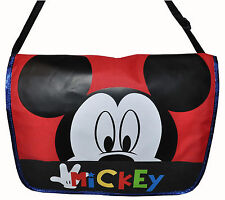DISNEY PEEKING MICKEY MOUSE MESSENGER BAG BLACK NEW
