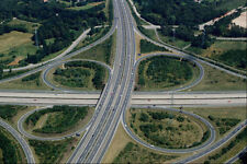 517018 Motorway Intersection Hanover A4 Photo Print