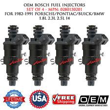 4x OEM Bosch Fuel Injectors for 83-91 PORSCHE/PONTIAC/BUICK/BMW 1.8L 2.3L 2.5L