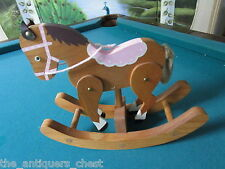 Wooden rocking horse with movable parts, very good condition [a*5]