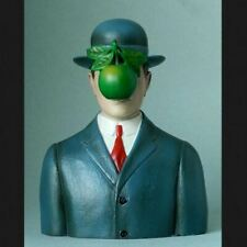 Magritte Son of Man Figurine Surrealism Bust Art Sculpture Museum Reproduction
