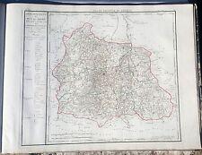 Dépt 63- XVIII ème Superbe Grande Carte 73x56 cm du Puy de Dôme Aquarellée 1790