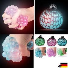 LED Quetschball Licht Knetball Knautschball Anti Stress Ball Glitzer Squishy TOB