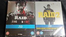The raid and raid 2 UK Blu-Ray Steelbook NEW and sealed