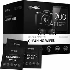 Eveo Lens & Screen Cleaning Wipes ( 200 Individual Packets )