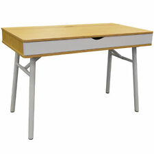 Bureaux et tables d'ordinateur blancs en chêne pour la maison