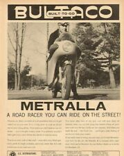 1965 Bultaco Metralla - a road racer for the street! Vintage Motorcycle Ad