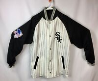 Rare Genuine Merchandise Mens Medium Chicago White Sox Reversible Jersey Jacket