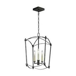 Murray Feiss 3L Thayer Chandelier, Smith Steel - F3321-3SMS