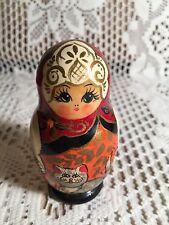 Wood Russian Nesting Dolls 4pc Signed