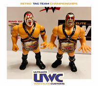 WWF WWE Retro Tag Team Wrestling Belts Set for Hasbro / Mattel / Jakks Figures