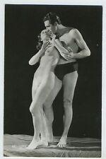 Biederer French Nude Couple Romance original vintage old c1920s photo postcard a