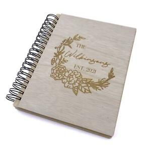 Personalised Large Engraved Wooden wedding or Family Photo Album Gift WPAL-8