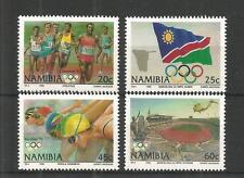 Namibia Giochi Olimpici del 1992 sg,597-600 ONU / mm NH LOTTO 1207A