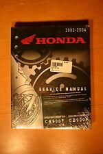 Genuine Honda 2002-04 CB900F 919 Shop Manual