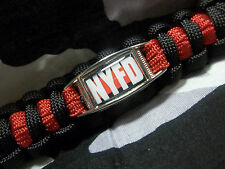 NYFD New York Fire Department Fallen FIREFIGHTER Thin Red Line Paracord Key Fob