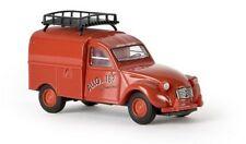 """Brekina 14145 - 1/87 Citroen 2 Cv Kastenente """"Pompiers""""  Td - Neu"""
