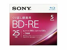 5pack Sony BD-RE 25GB 2x video Inkjet Printable blu ray Blank Disc Import Japan