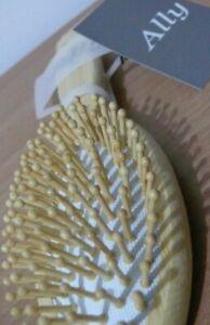 BAMBOO Hair Brush Oval Pneumatic 22 cm Bristle:Small Spherical BAMBOO Pin
