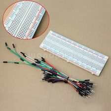 MB102 PCB Protoboard Breadboard 830 Points + 65 Cable Jumper Wire Buena Calidad