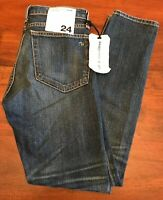 NWT Rag & Bone 10 Inch Dre Exeter Jeans-Blue-Size 24. Inseam 29.