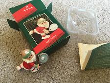 Love Santa - Santa Claus Playing Tennis Hallmark Ornament 1988 In Box Christmas