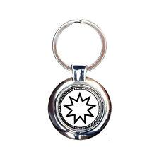 Bahai Star Keychain Key Ring