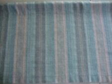 VALANCE Stripes with Teal and Gray Custom Made Decorator Window Treatment Topper