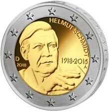 2 EURO MÜNZE BRD - 100. Geburtstag Helmut Schmidt 2018 - TOP - POLITIKER