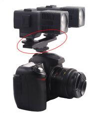 Hot Shoe Extension Bar Mount Dual Bracket Fr DV Camera Video LED Light SLR Rig