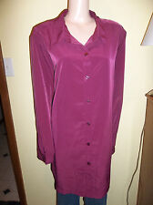 BRYLANE WOMAN PLUS SIZE LONG SLEEVE MAROON BIG SHIRT 28W CAREER NEW