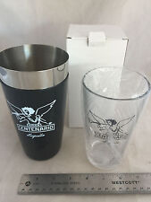 NEW Gran Centenario Tequila Cocktail Shaker and Glass Set Stainless Steel Heavy!
