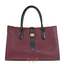 Furla Flair Barolo Bordeaux Grainy Leather Tote Bag