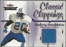 2002 Fleer Throwbacks Classic Clippings Barry Sanders Jersey