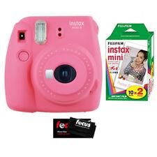 Fujifilm Instax Mini 9 Camera (Flamingo Pink) w/ Instax Mini Film 2 Pack