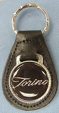 Vintage Black Ford TORINO Black Leather Keyring 1968 1969 1970 1971 1972 1973